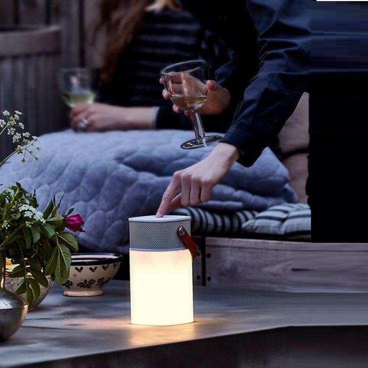 Lampe haut parleur sans fil d 39 ext rieur aglow led for Haut parleur exterieur