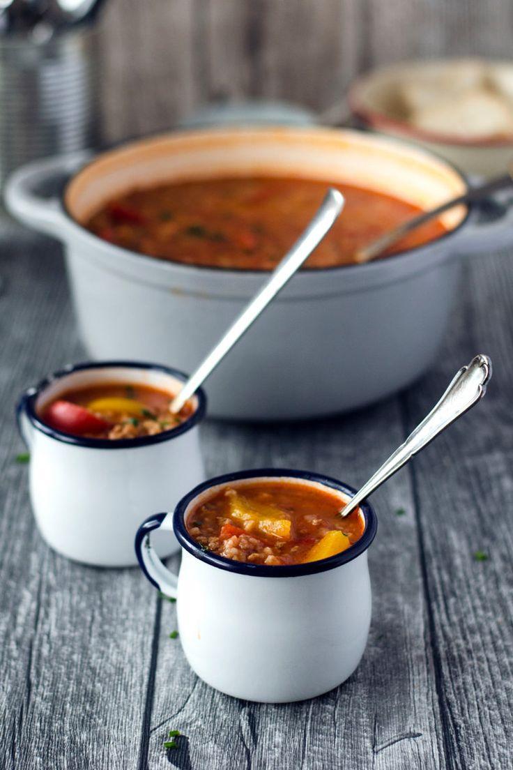 Gefüllte-Paprika-Suppe © Eine Prise Lecker