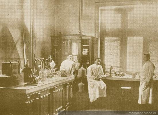 Gabinete de Bacteriología, Instituto de Higiene 1910