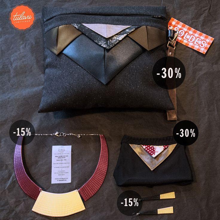 // ZOOM #SOLDES // Et ça continue les #soldes === > #ZETTE à -30% sur la pochette, la culotte,et d'autres pièces ==== > #Sesame&Orion à -15% sur les bijoux textiles faits main ----> TULAVU #Marseille #ConceptStore #Créateurs