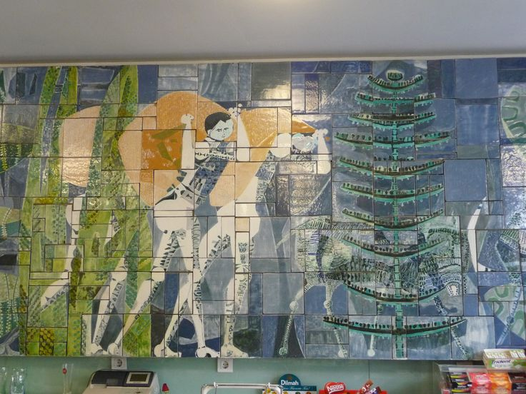 "Júlio Resende | ""O Café"" | Porto | Casa Sical / Sical House | 1963-1964 #Azulejo #AzulejoDoMês #AzulejoOfTheMonth #Trabalho #Labour #JúlioResende #Porto #Oporto"