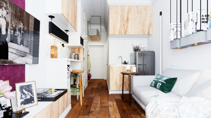 Stunning apartment with a size of 15 m² shows an interesting idea (1)