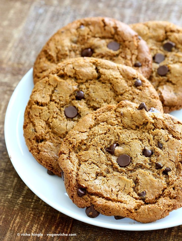 These huge Chickpea Flour Chocolate Chip Cookies are chewy and a perfect treat…