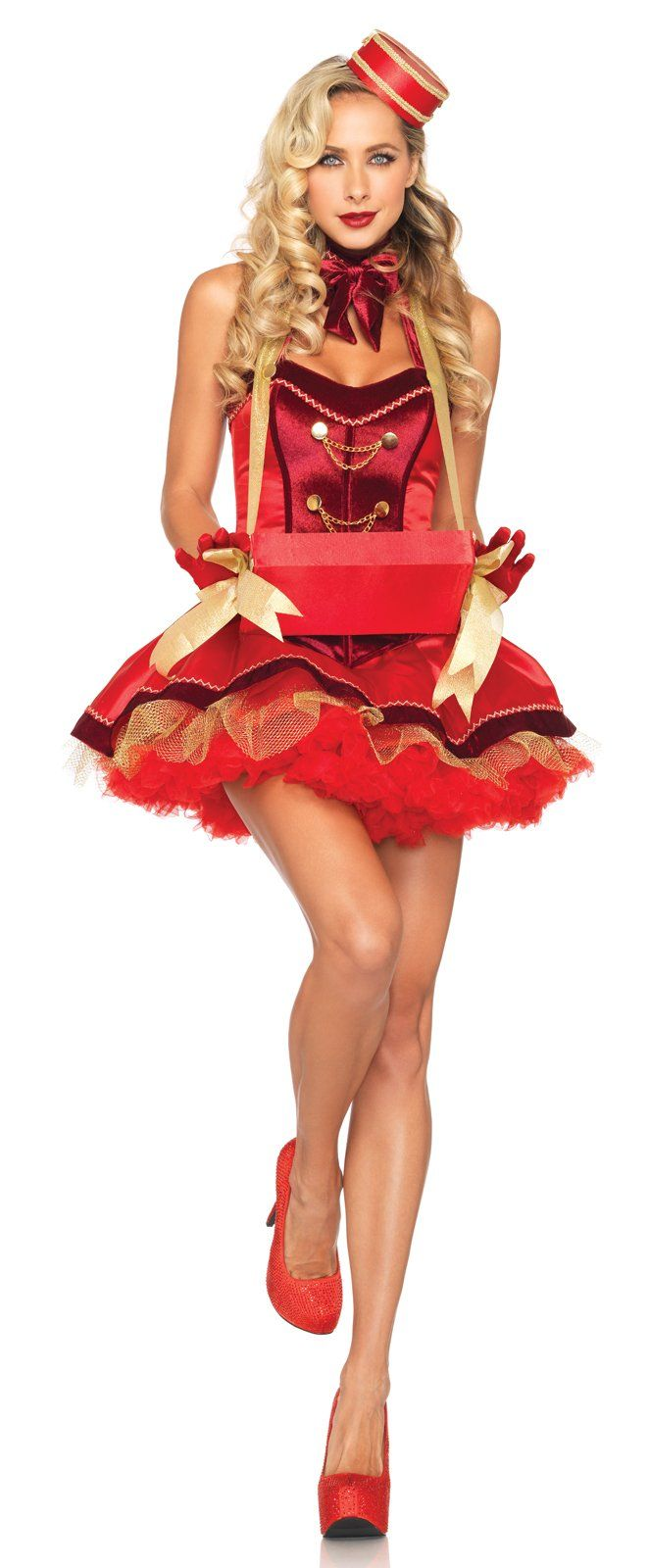 supposed to be a cigarette girl costume, but take away the cigarette box, and you have a super cute bellhop! :)
