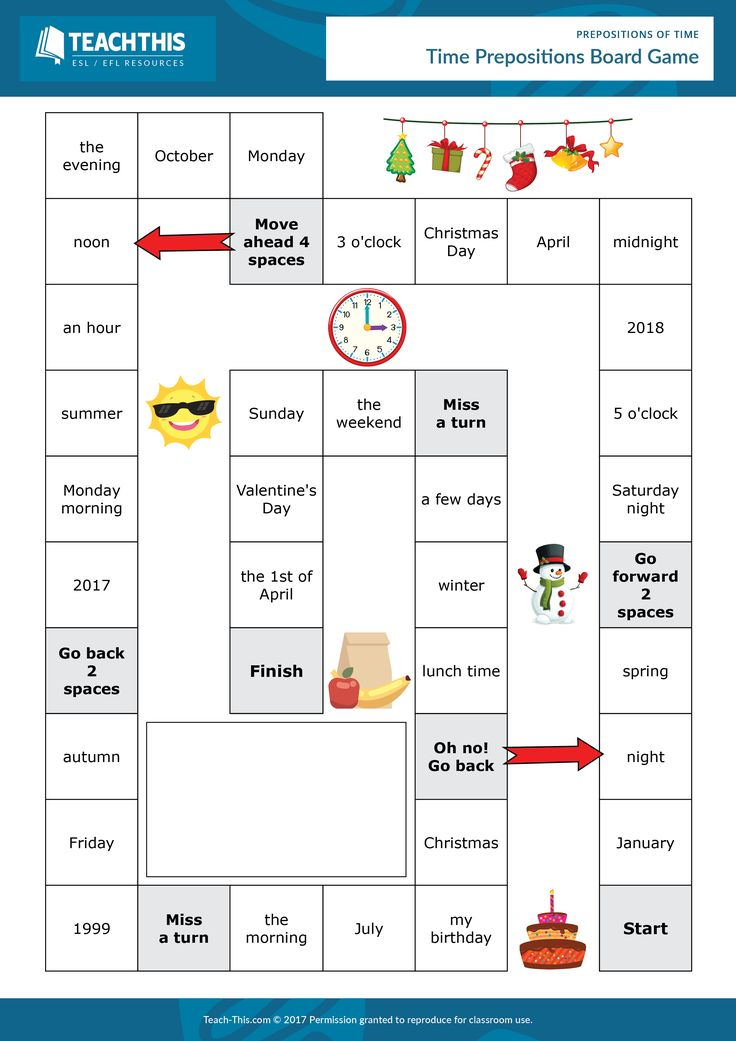 Prepositions of Time Prepositions, English teaching