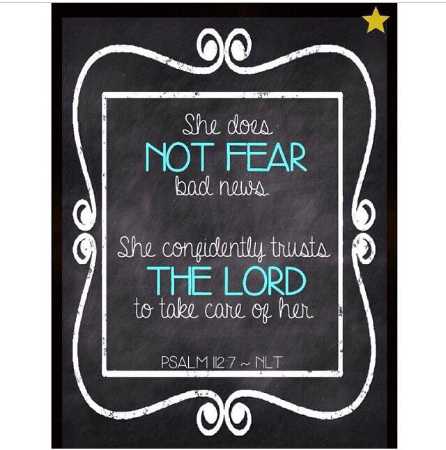 No fear of bad news
