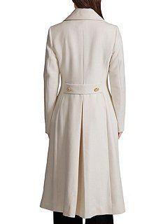 Great Plains Bergman Double Breast Coat White - House of Fraser