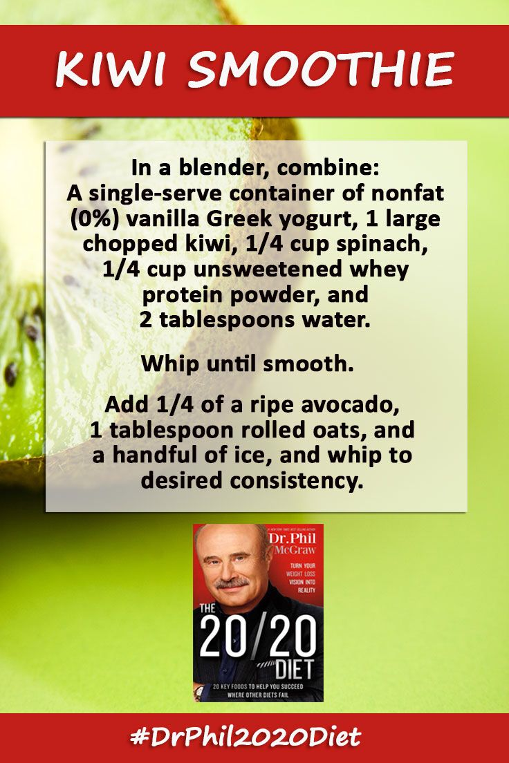 Start your morning off right with this healthy (and tasty!) smoothie.