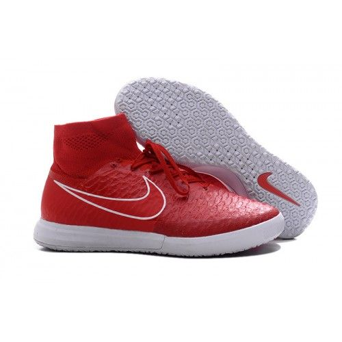 Salg Nike Magista X Proximo IC Billige Fotballsko Rød Hvit