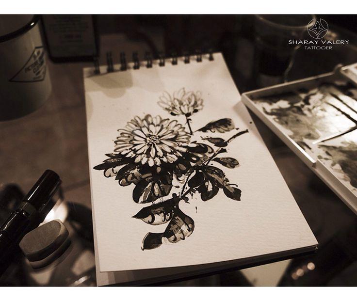 Pinterest. Flowers. Sketch.