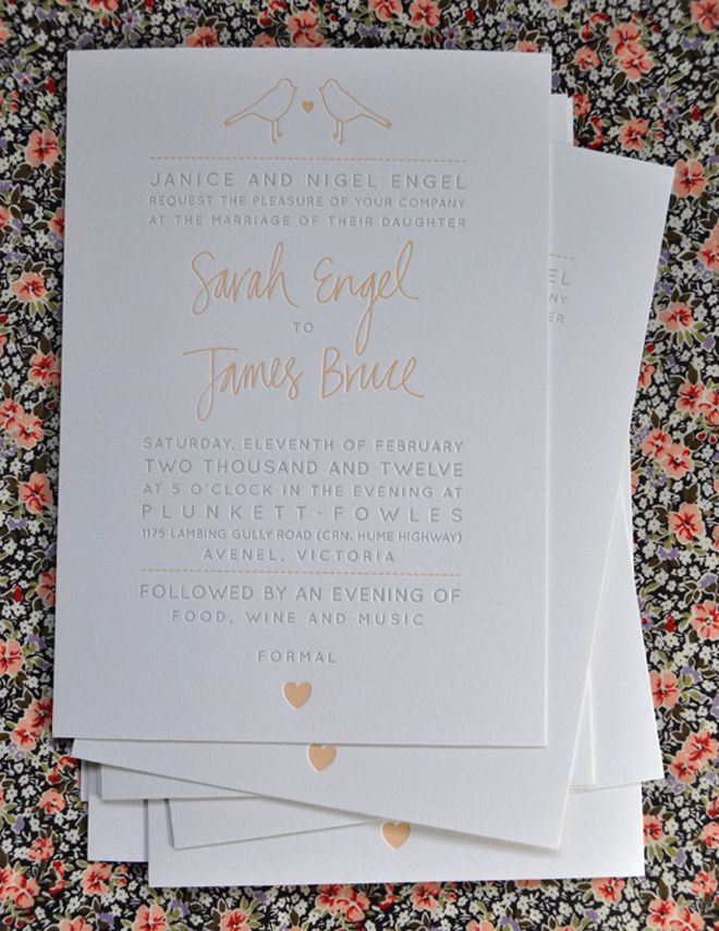 30 best our letterpress work images on pinterest peace room and letterpress wedding invitation letterpressing is really in right now stopboris Choice Image