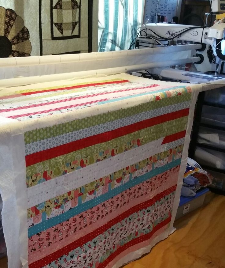 Under the Needle today....is Sylvia's quilt...such a pretty line of fabric....love Jelly roll quilts a great way to showcase a line of fabric ☺☺ #DarvanaleeDesigns #Classes #longarmQuilting #quilts #quilting #quiltlife #SingerSewingMachines #patchwork #Fabrics #Kingaroy #wondai #murgon #yarraman #blackbutt #nanango #southburnett #handmade #gifts