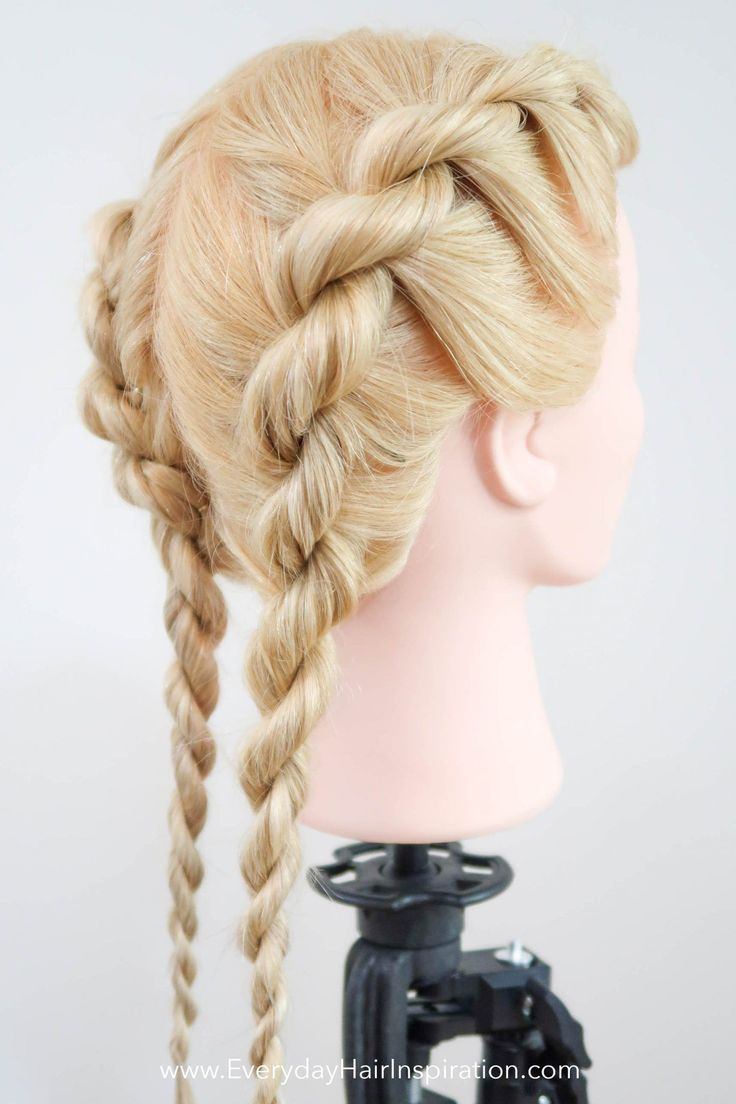 Braided Hairstyles For Women Braided Hairstyles Pictures Braided Hairstyles White Brai In 2020 Rope Braided Hairstyle Twist Braid Hairstyles Braids Step By Step