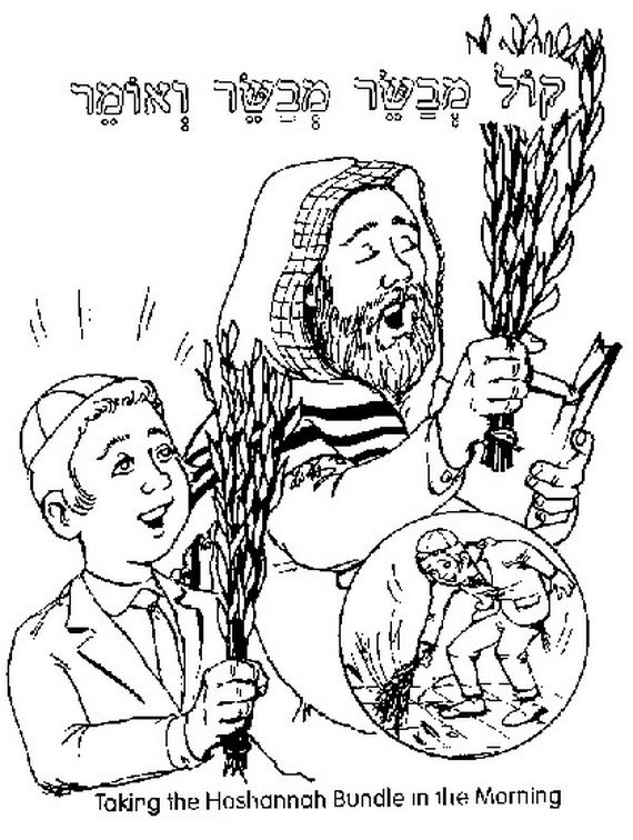 torah tots coloring pages sukkot - photo#32