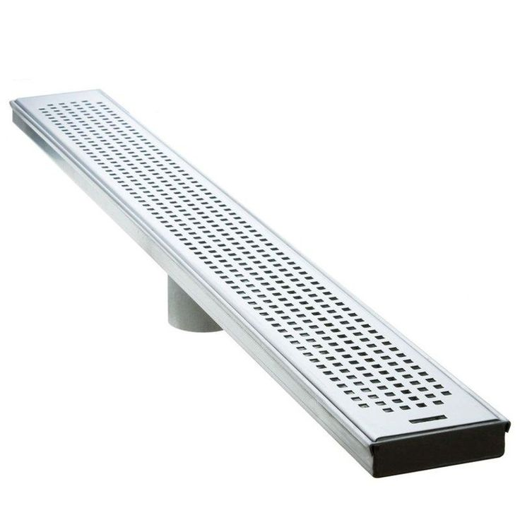"""LUXE Linear Drains 36SP 36"""" Pattern Grate Linear Shower Drain Satin Stainless Shower Accessories Shower Drains Stainless Steel"""