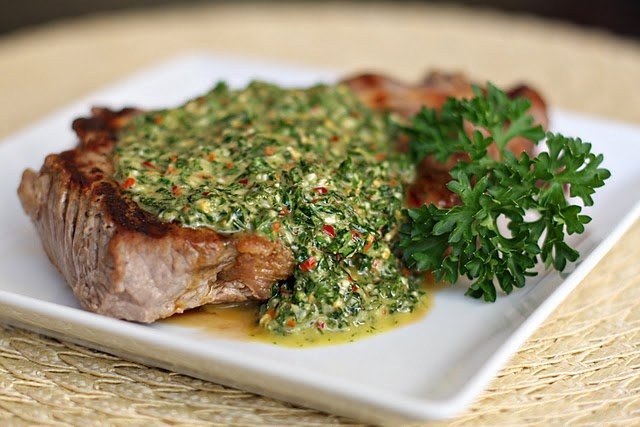 ...chimichurri.  yum. need to add to the weekly meal plan STAT.  given that my herb garden rocks...: Steak, Chimichurri Sauce, Parsley Chimichurri, Sauces, Food, Dinner Recipes, Dressings Recipes, Recetas Cocina Recipes