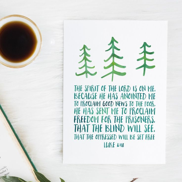 Christmas gift verse 25 pinterest luke 418 the spirit of the lord is on me bible verse snow and company bible verse wall art bible verse gift christmas bible verse negle Images