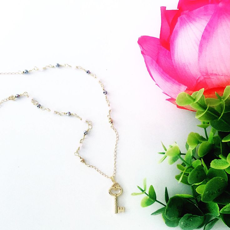 A personal favorite from my Etsy shop https://www.etsy.com/listing/519783370/heart-key-goldfilled-chain-with-czech