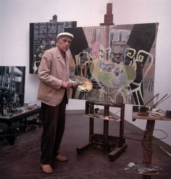 Cubist artist George Braque. One of the founders of cubism art movement.(1949)  http://cubismsite.com/georges-braque-cubism/