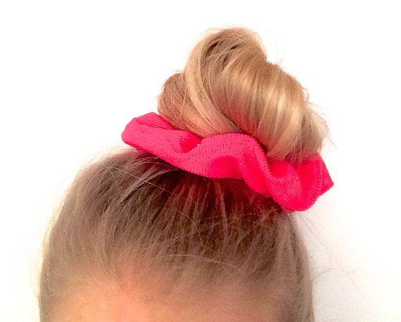 Scrunchie Hair elastic. Coral flash neon by ChouchouScrunchie