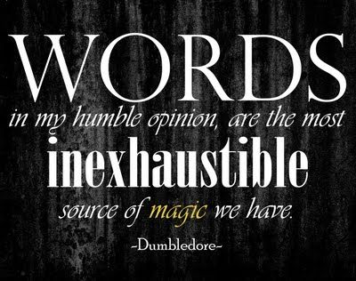 harry potter quote. On the wall.