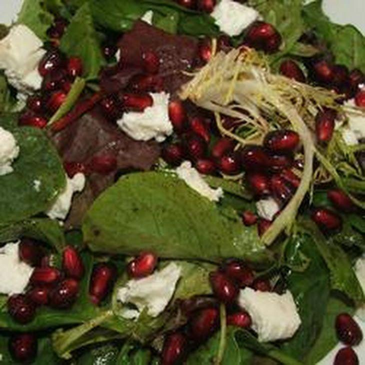 Pomegranate Feta Salad with Lemon Dijon Vinaigrette Recipe Salads with ...