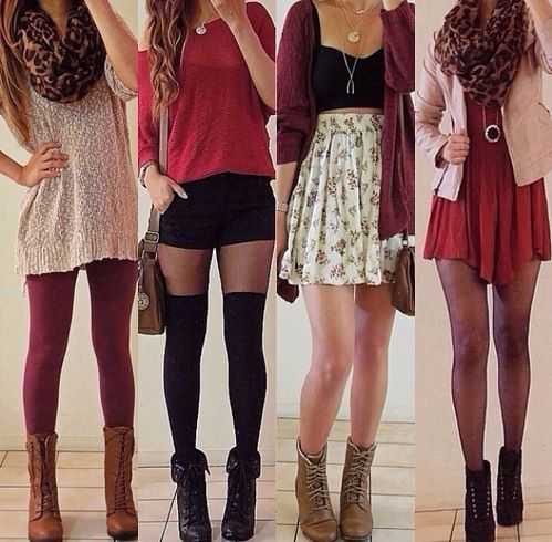 Clothes Love the first two outfits from the left :)