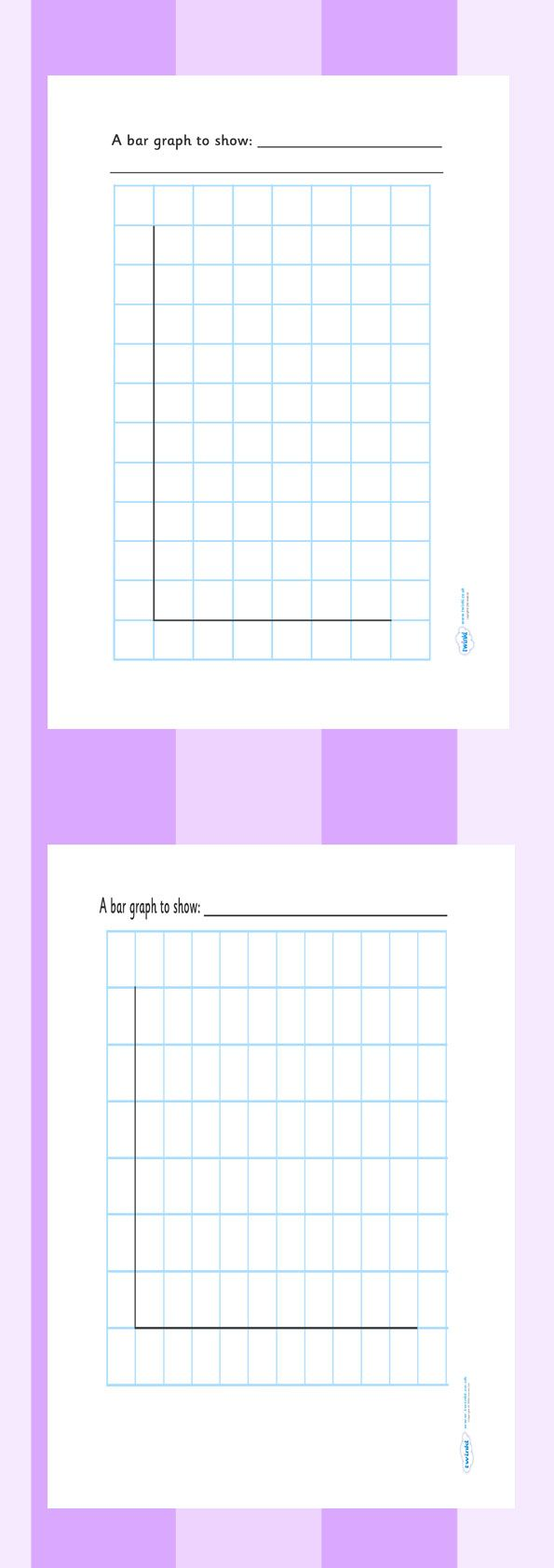 Twinkl Resources >> Bar Graph Template  >> Classroom printables for Pre-School, Kindergarten, Elementary School and beyond! Math, Worksheets, Bar Graphs