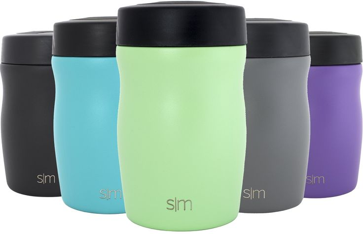 Simple Modern 16oz Rover Food Jar - Vacuum Instulated 18/8 Stainless Steel Food Storage Container - Hydro Thermos Flask - Mint Green