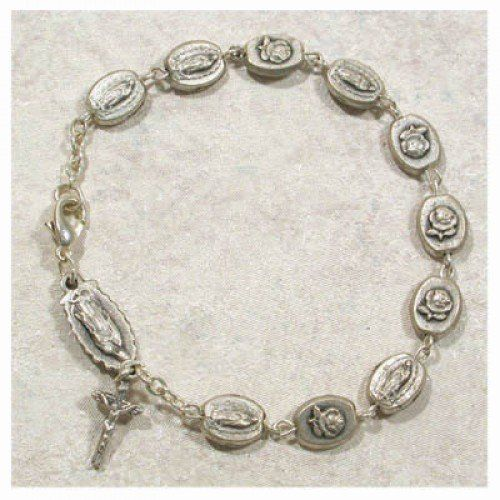 O.L. Guadalupe Bracelet Adult St. Patron Saint Catholic Religious Spiritual Medal Relic Birthstone Birthday Gemstone Month Enlightened Expressions. $30.63. Christian Religious Jewelry