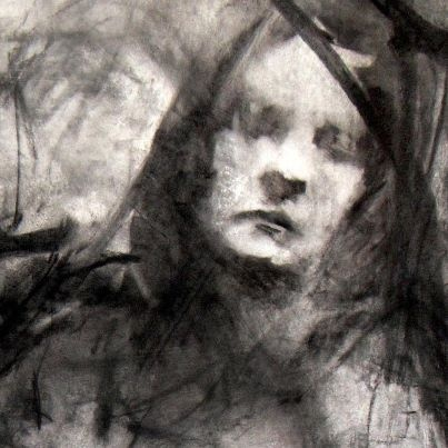 Sketch by Paul Ruiz, charcoal & pastel on paper
