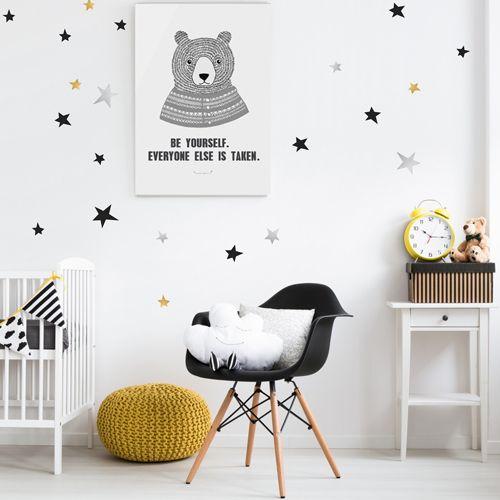 Afbeeldingsresultaat voor muursticker zilveren sterren