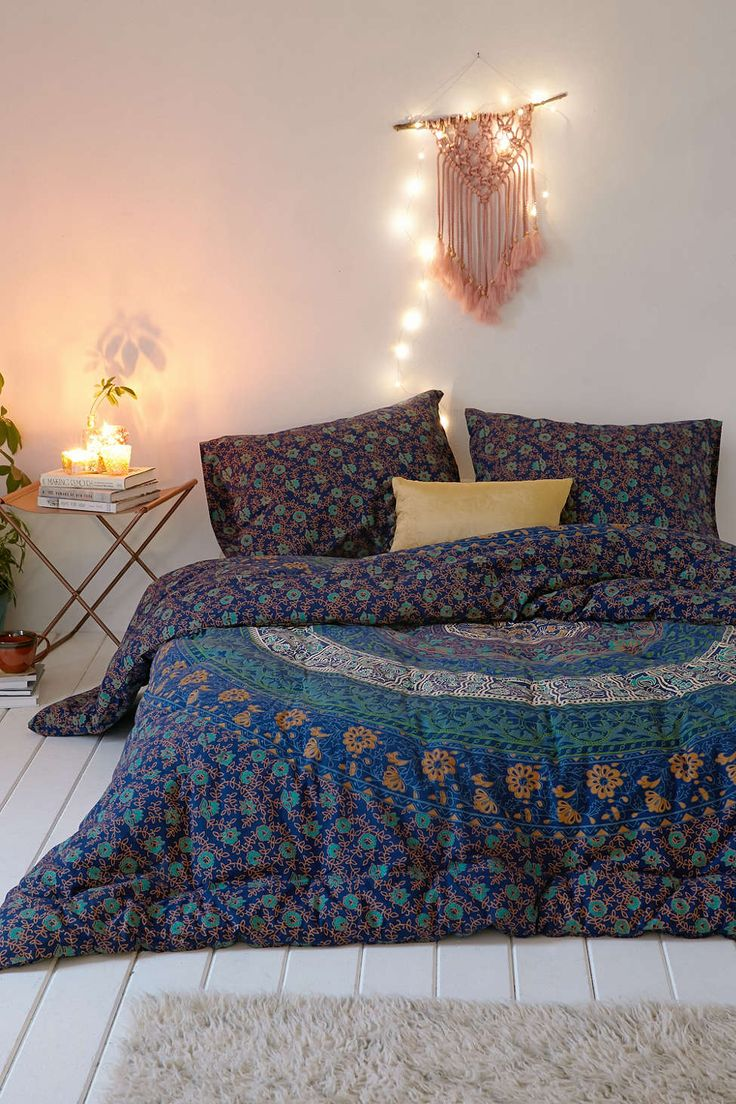 Magical Thinking Blue Medallion Comforter