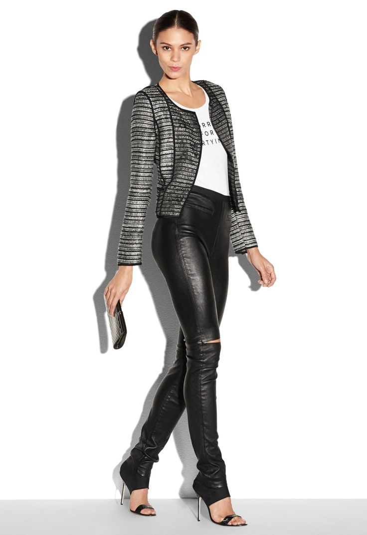PIPED CARDIGAN JACKET - Just In   MILLY