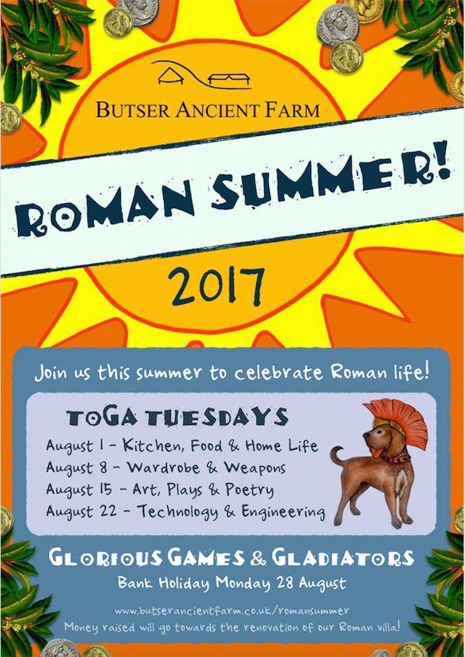 Big #RomanSummer coming to @butserfarm & I'll be signing books at the Gladiator Games on Bank Holiday Mon 28 Aug! http://www.butserancientfarm.co.uk/romansummer/