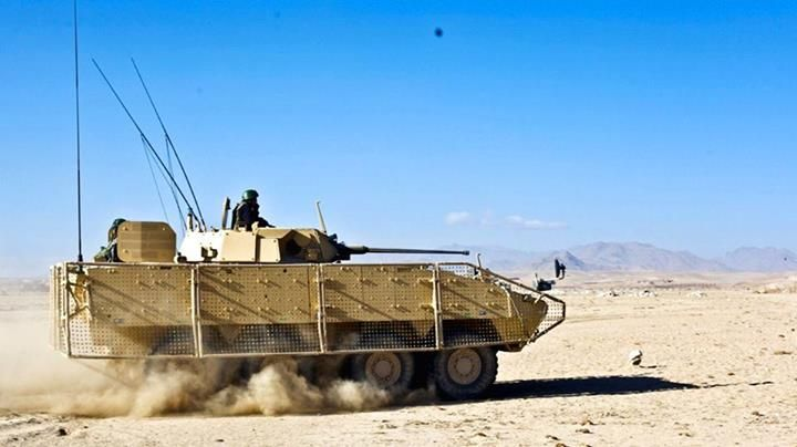 Polish KTO Rosomak M1M during patrol, Ghazni region, Afghanistan