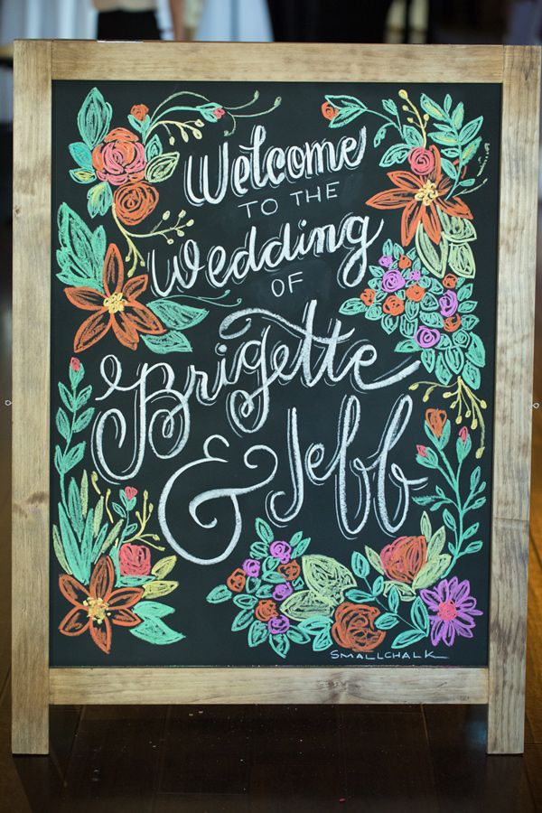 colored chalk wedding sign, photo by GK Photography http://ruffledblog.com/notwedding-new-orleans #weddingideas #signs