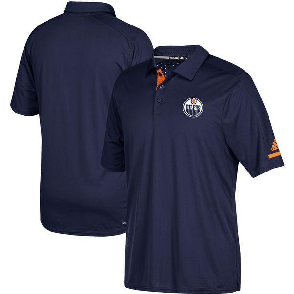 Edmonton Oilers adidas Authentic Pro Locker Room Polo – Navy - $74.99