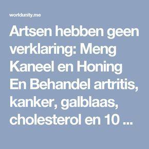 Artsen hebben geen verklaring: Meng Kaneel en Honing En Behandel artritis, kanker, galblaas, cholesterol en 10 andere ziektes