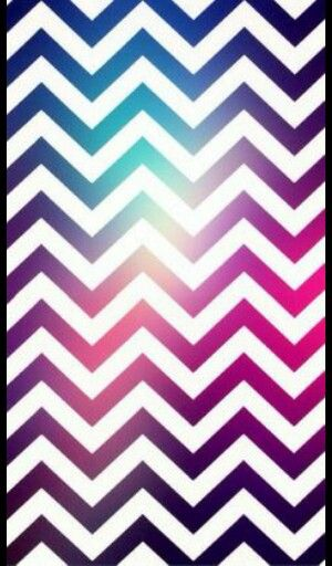 White pink and a little bit of light blue zig zag stripes ...