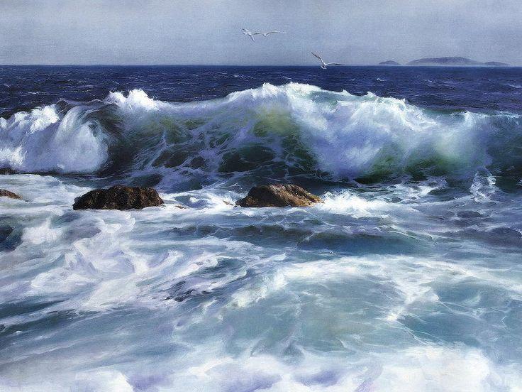 Seascape Painting - Seascape by Yi Liu