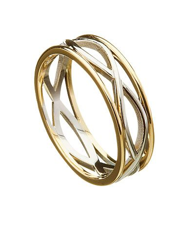 Celtic Wedding Rings: Light Weight Infinite Weave Band