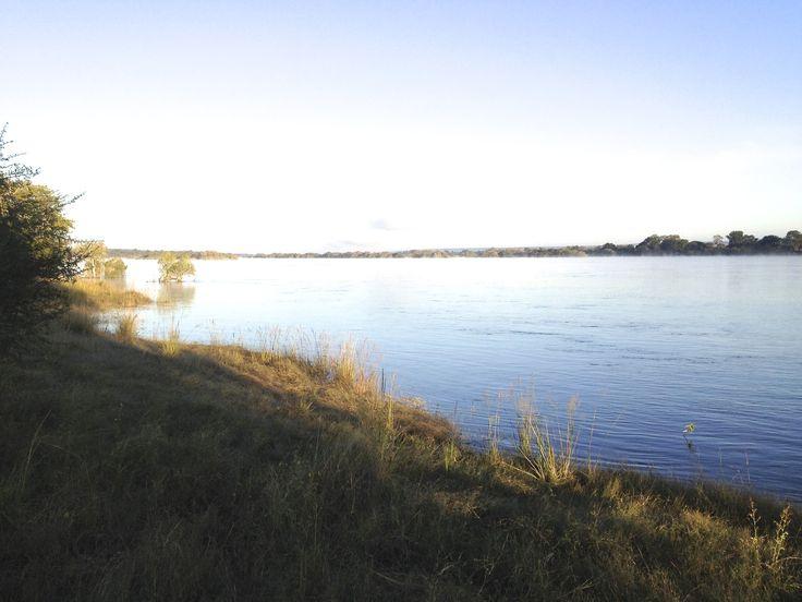 The mighty Zambezi in the early morning light...