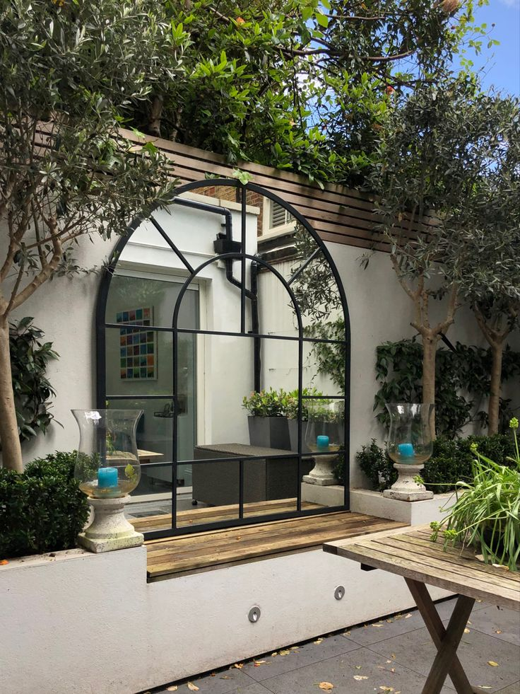 bespoke arched garden mirror in 2020 courtyard gardens on stunning backyard lighting design decor and remodel ideas sources to understand id=91198