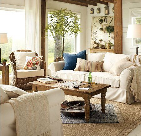 home decorating styles clean country decorating pottery barn country and decorating tips. Black Bedroom Furniture Sets. Home Design Ideas