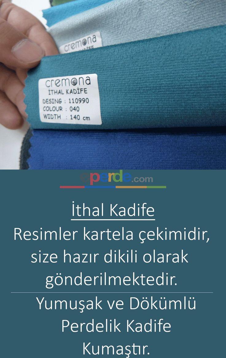 Koyu Turkuaz Mavi Kadife Fon Perde 110990-040