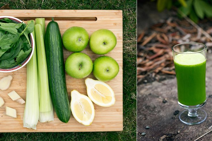 Grønn juice med spinat