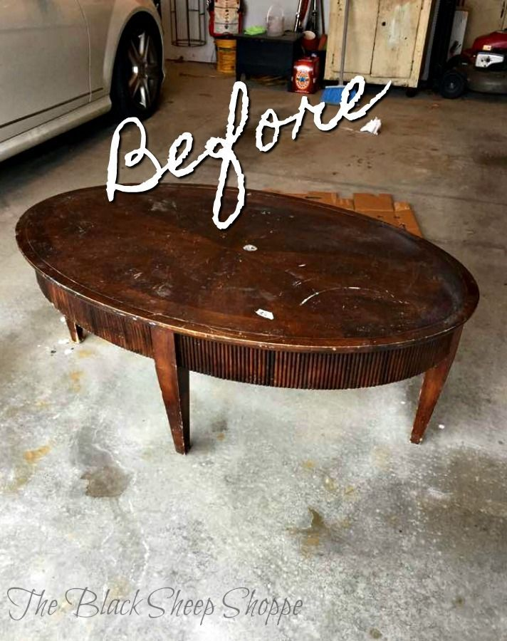 Oval Coffee Table Makeover Coffee Table Makeover Painted Coffee