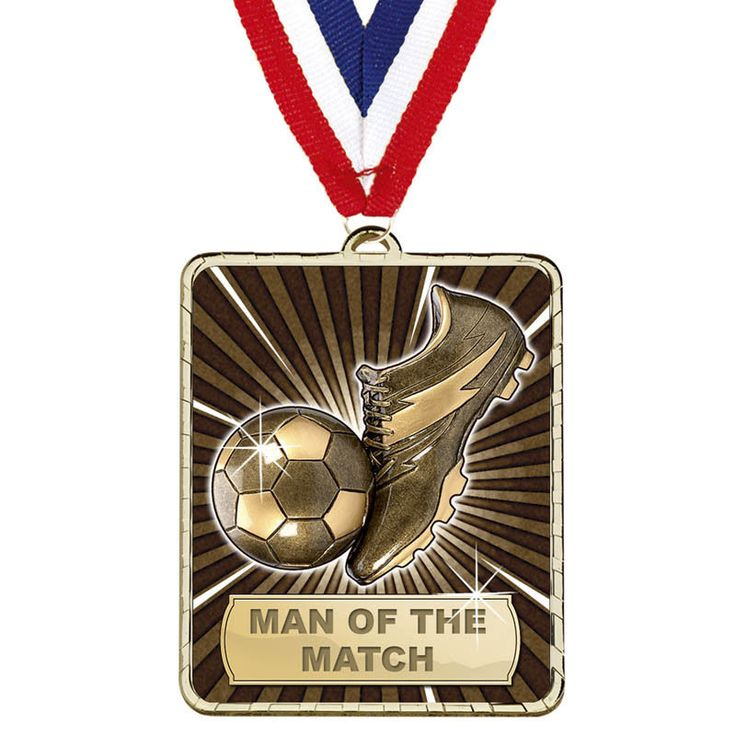 LYNX MAN OF THE MATCH FOOTBALL MEDAL WITH RED WHITE & BLUE RIBBON AM1122.01
