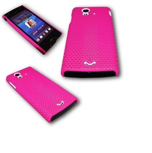 Crystal Grid Case Handy Tasche Cover Hülle Handytasche Schutzhülle PINK für Sony Ericsson Xperia Ray
